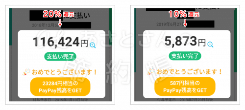 【Paypay】20%還元、10%還元されています!-min