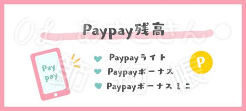 Paypayの残高にはPaypayライト、Paypayボーナス、Paypayボーナスミニの3種類があります。
